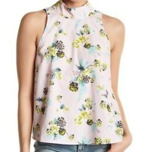 Abound Back Tie Floral Blouse
